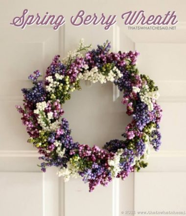 Simple Spring Wreath at thatswhatchesaid.net
