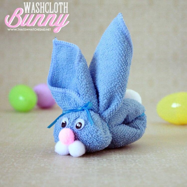 Non Candy Easter Basket Idea - Washcloth Bunny