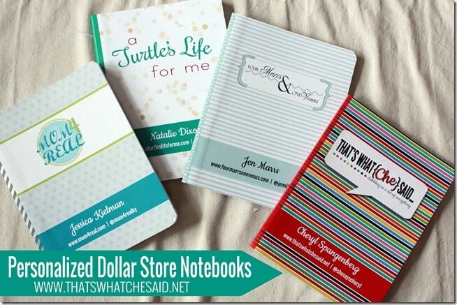 Personalized Notebooks from the dollar store at thatswhatchesaid.net