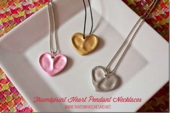 Thumbprint Heart Charm Pendants at thatswhatchesaid.com