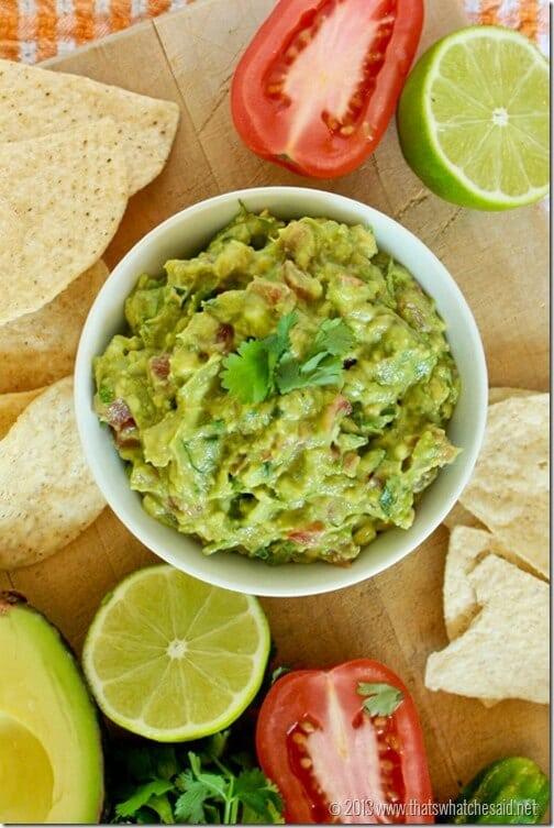 Cindo de Mayo Guacomole Recipe at thatswhatchesaid.net