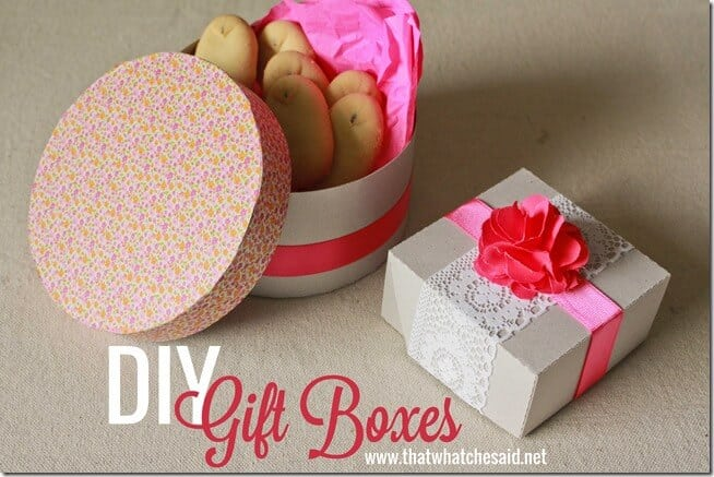 DIY Chipboard Gift Boxes at thatswhatchesaid