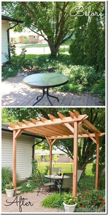 DIY Pergola Before and After 1