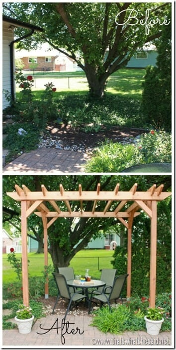 DIY Weekend Pergola Project Before and After 1