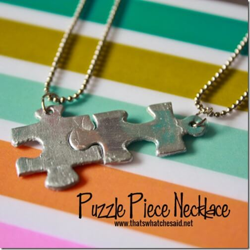 Linking Puzzle Piece Necklaces at thatswhatchesaid.net