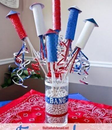 4th of July Firecracker Centerpiece Paper Craft