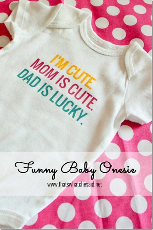 Baby Onesie using Heat Transfer 1