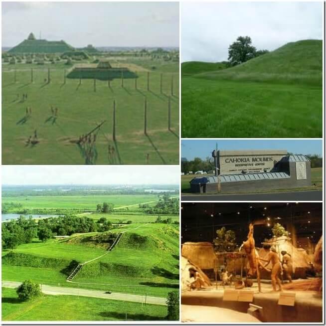 Cahokia Mounds Collage