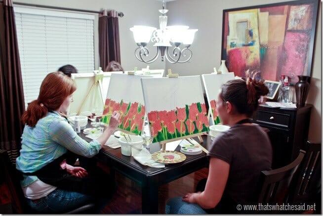 Social Artworking Painting Party Fun