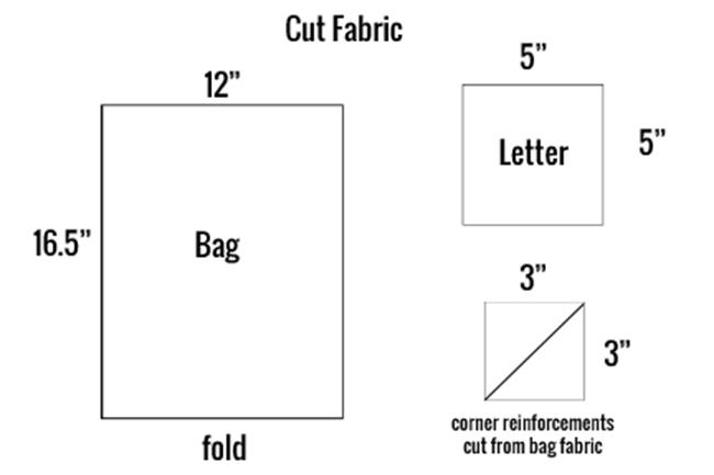Cutting Fabric for Cinch Sack