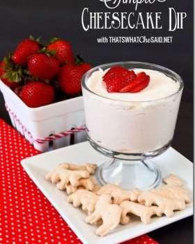 Simple Cheesecake Dip Recipe. So delicious!