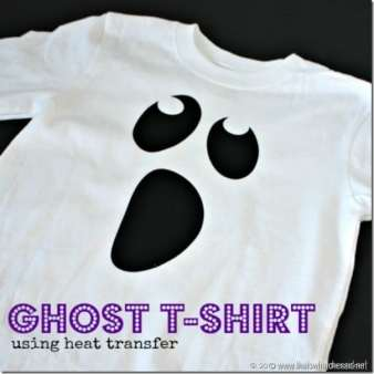 Ghost T-shirt using heat transfer vinyl and iron