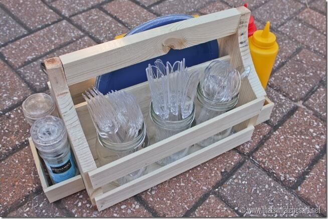 Silverware section of DIY CAddy