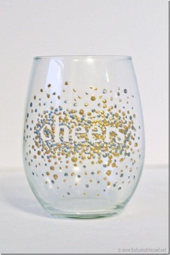 DIY Dot Wine Glasses 5