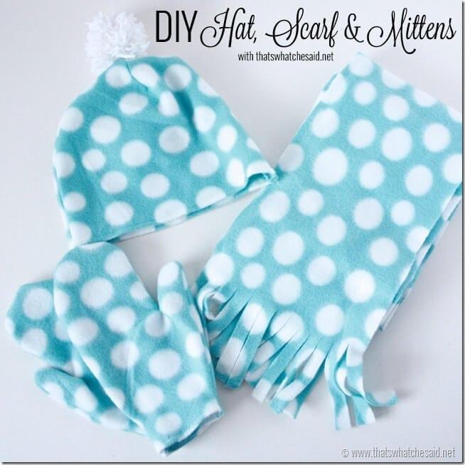 DIY Hat Scart & Mitten Tutorial with thatswhatchesaid.net