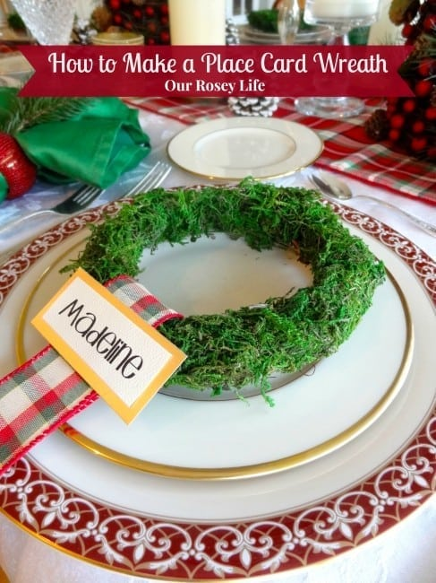 How to make a Christmas place card wreath - Our Rosey Life