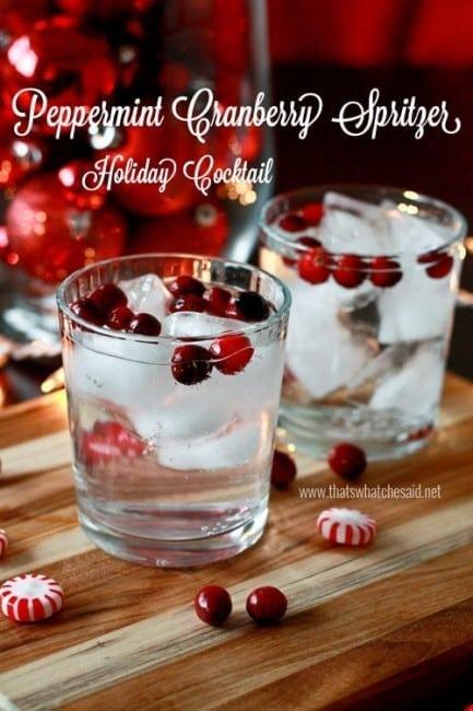 Peppermint Cranberry Cocktail