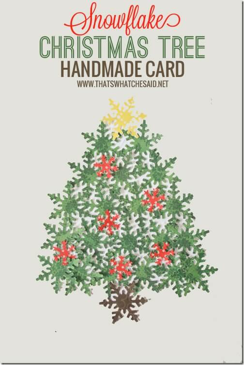 Snowflake Christmas Tree Handmade Card with thatswhatchesaid.net
