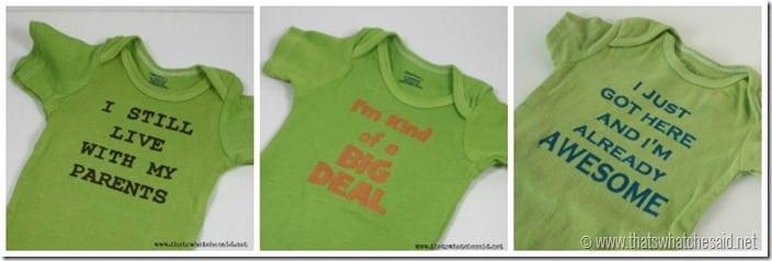 Funny Saying on Baby Onesies at thatswhatchesaid.net