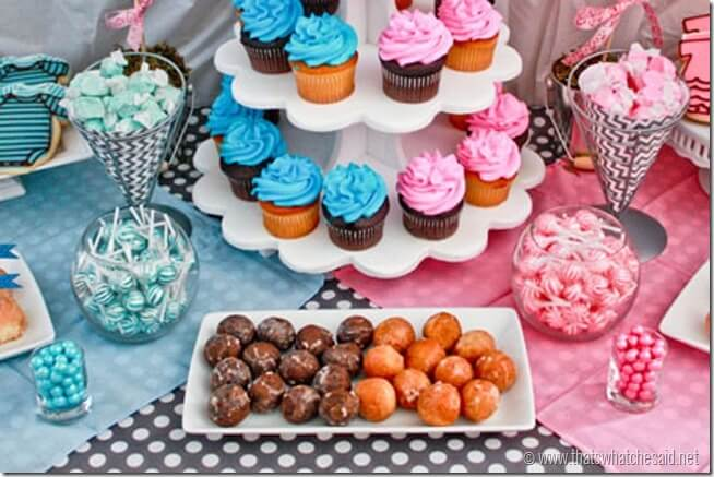 Pink and Blue Candy for Gender Reveal Party