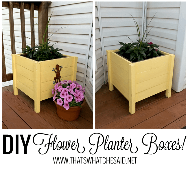 DIY Flower Boxes tutorial at thatswhatchesaid.net