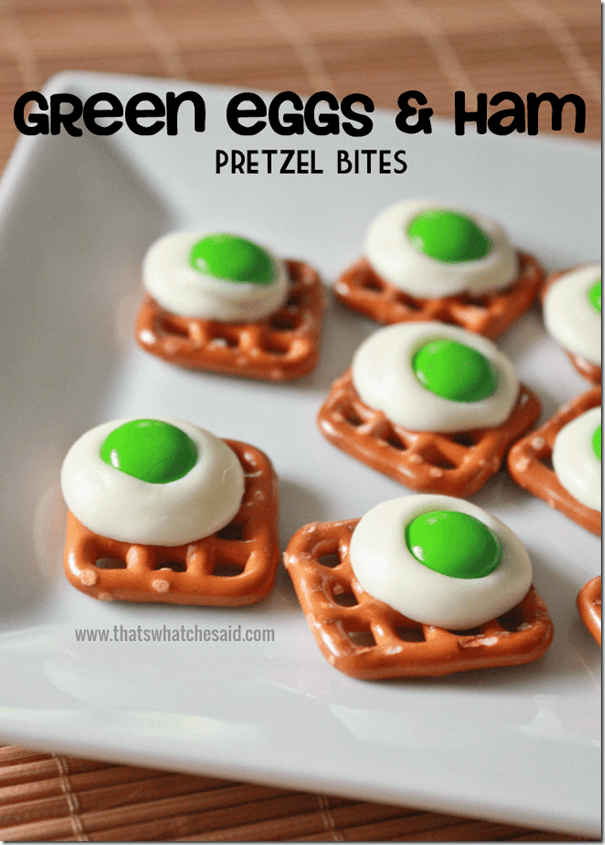 Green Eggs & Ham Pretzel Bites at thatswhatchesaid.com