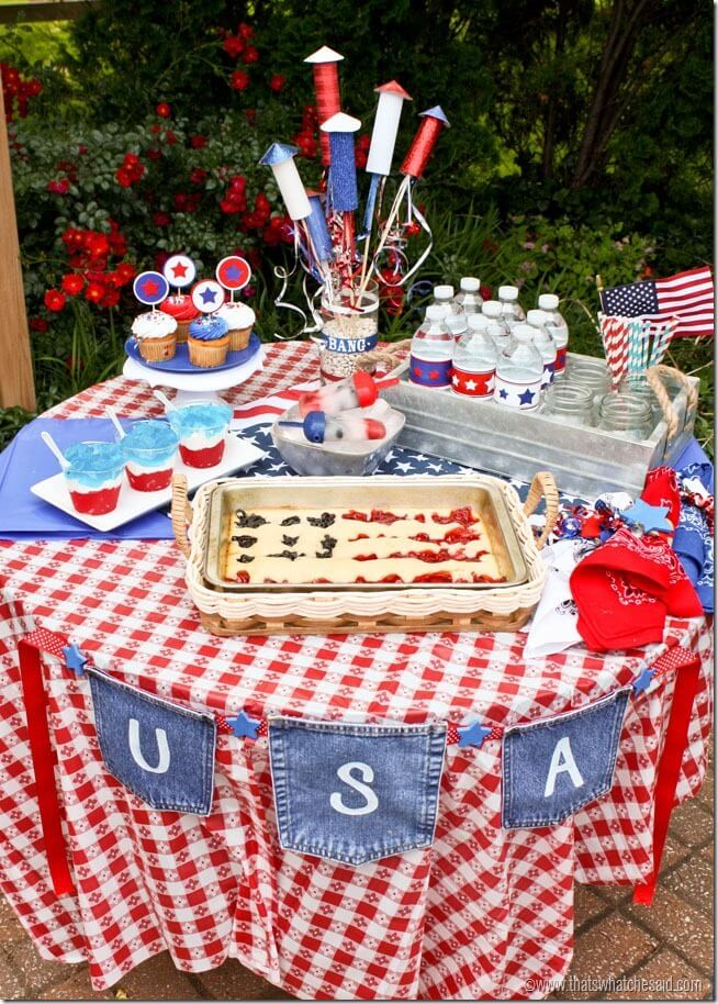 4th of July Tablescape at thatswhatchesaid.com