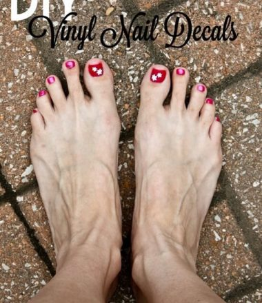 DIY Vinyl Nail Decals cut with your Silhouette Cameo