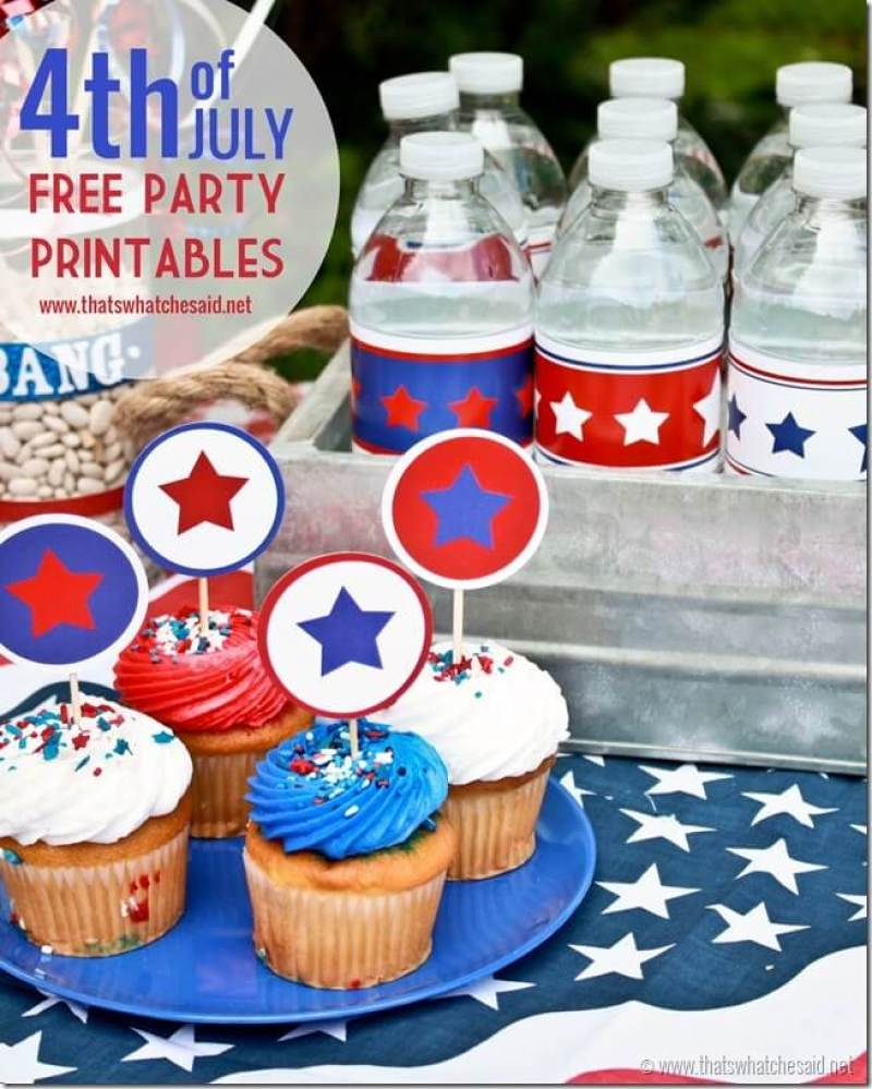 FREE 4th of July Party Printables at thatswhatchesaid.net