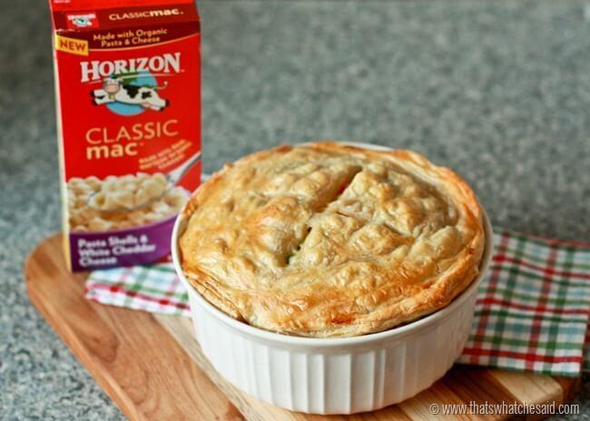 Horizon Mac & Cheese Pot Pie Recipe at thatswhatchesaid.net