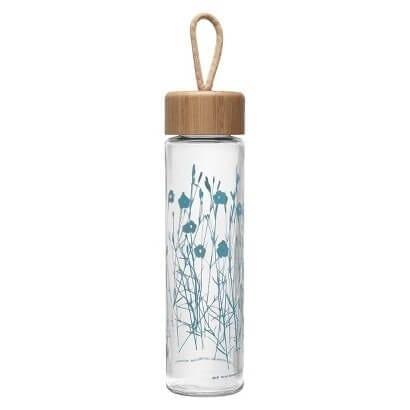 Patterned Glass Water Bottle.