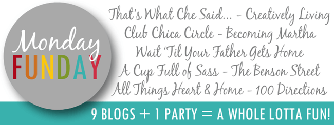 Monday Funday Link Party at thatswhatchesaid.com