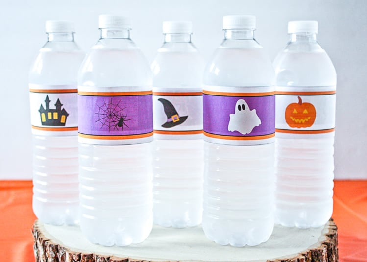 Halloween Water Bottle Printables