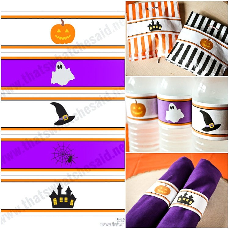 Halloween Water Bottle Labels Free Printable and Uses