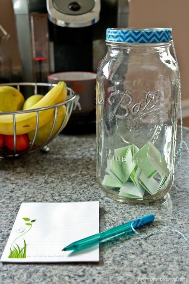 Easy New Year Memory Jar