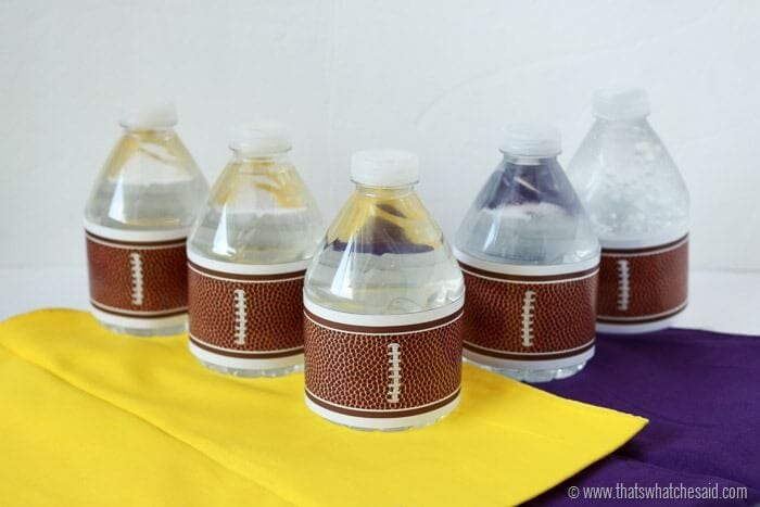 Free Football Water Bottle Labels Printables At Thatswhatchesaid