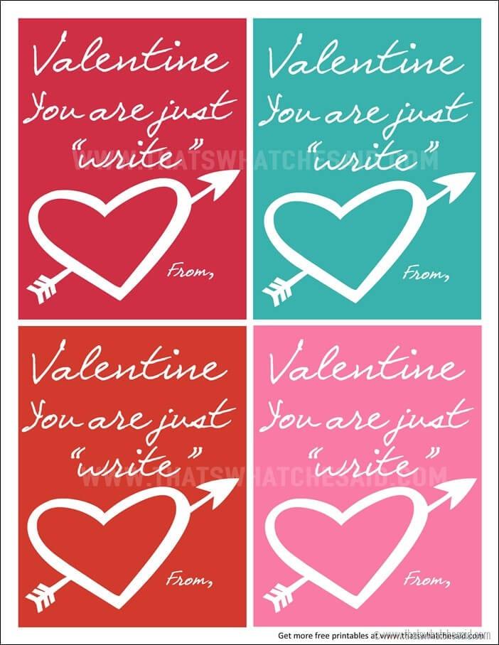 Just Write Valentine at www.thatswhatchesaid.com