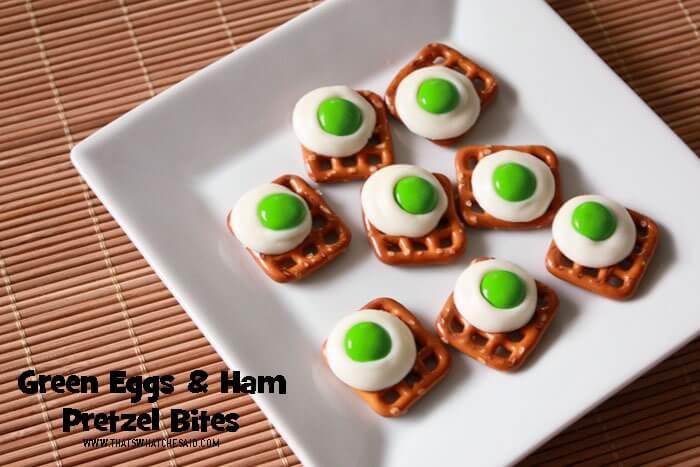 Green Eggs & Ham Pretzel Bites
