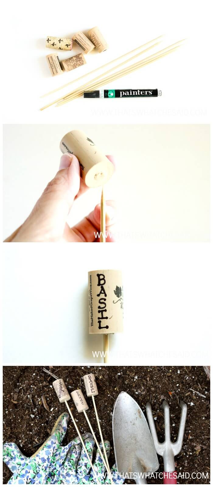 How to make Cork Garden Markers