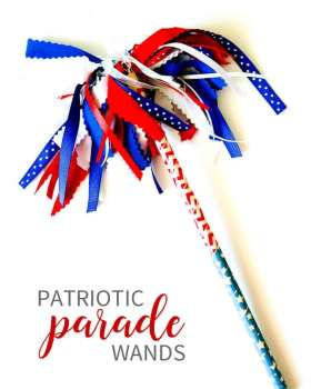DIY Parade Wands. So fun to make for parades or events!