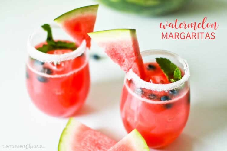 Watermelon Margaritas that are easy and delicious!