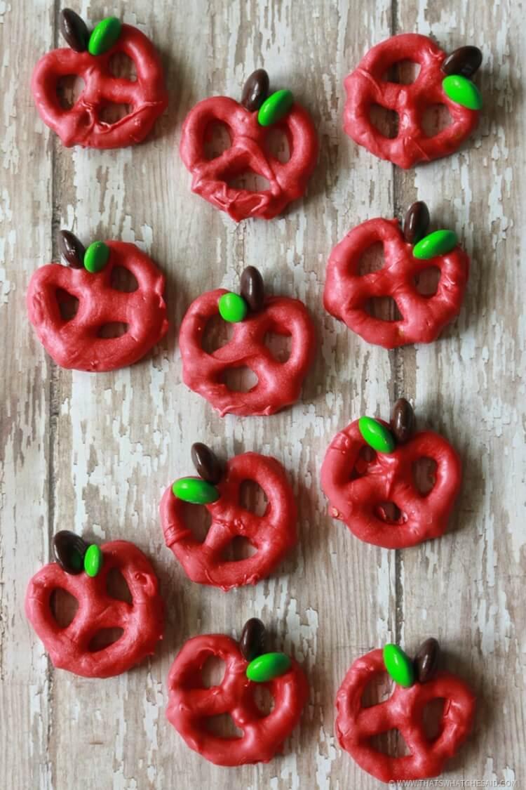 How to Make Dipped Apple Pretzel Bites
