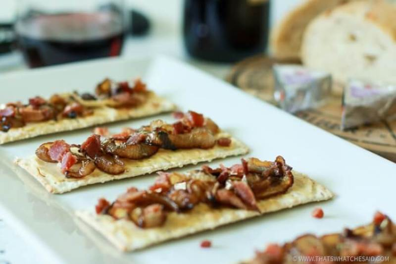 Bacon and Onion Tart Appetizer-18
