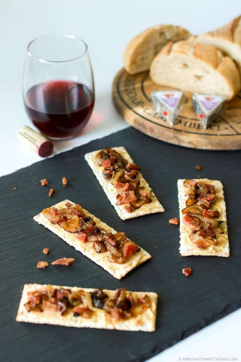 Bacon and Onion Tart Appetizer-19