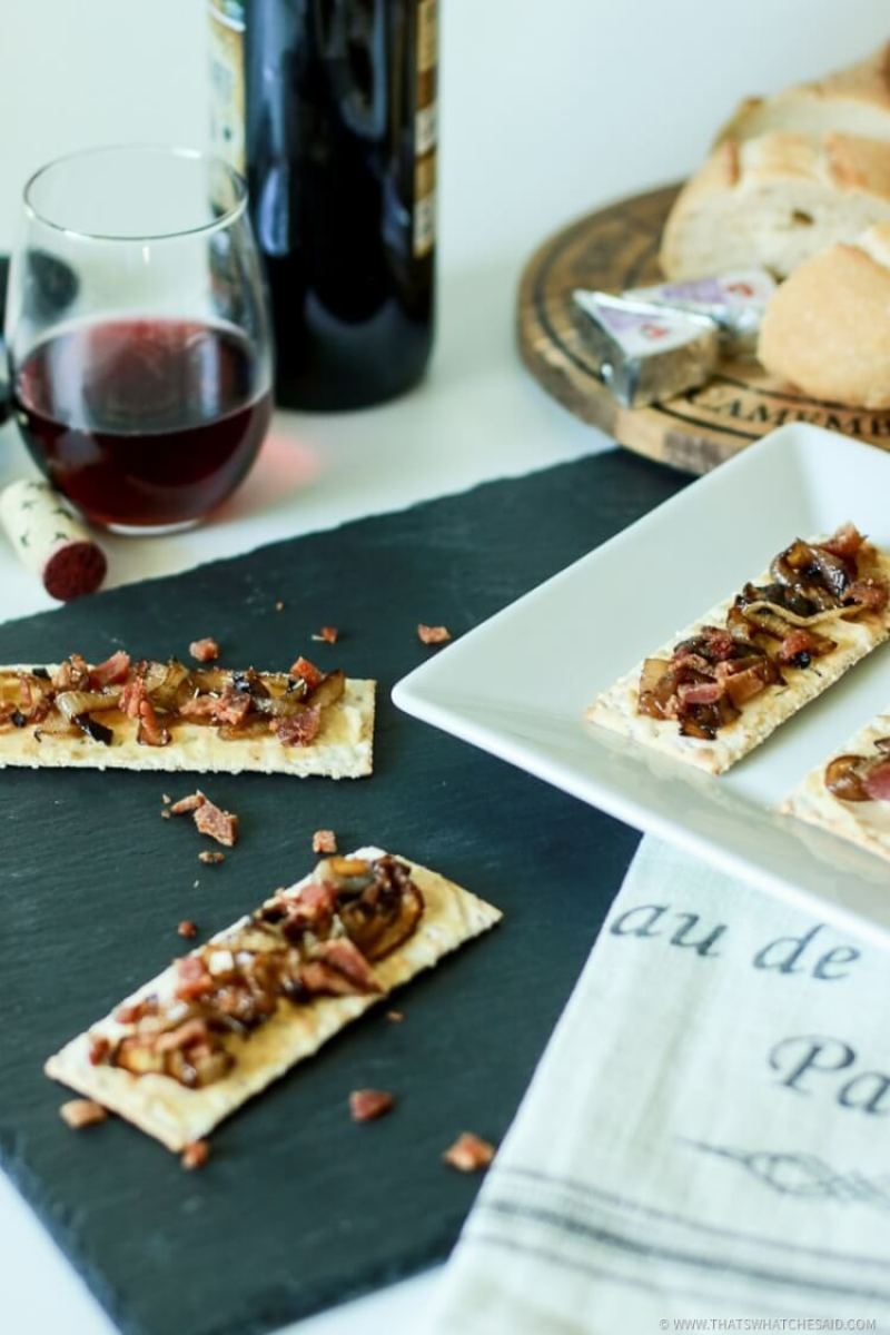 Bacon and Onion Tart Appetizer-8
