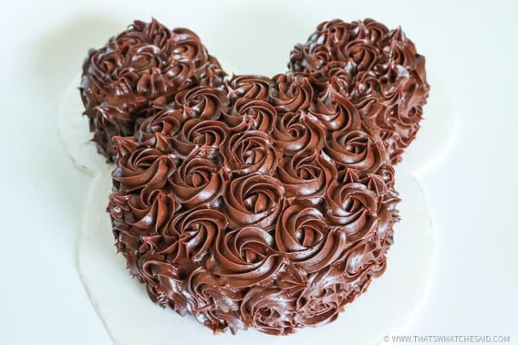 Make a Mickey Mouse Cake