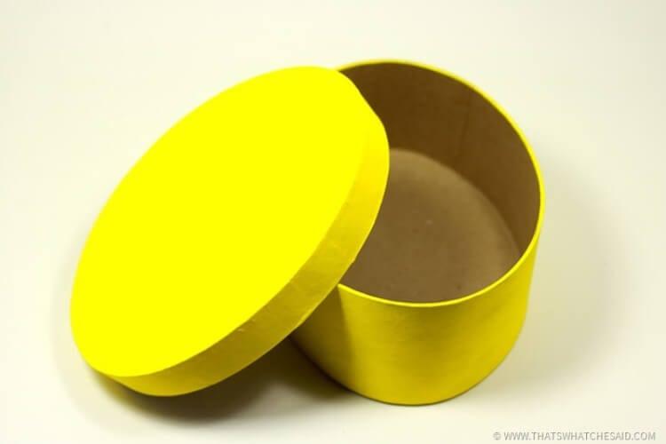 Paint Oval Paper Mache Box Yellow