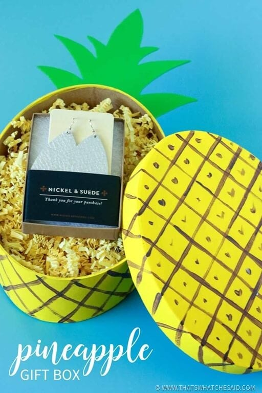 Adorable Pineapple Gift Box Craft Idea!