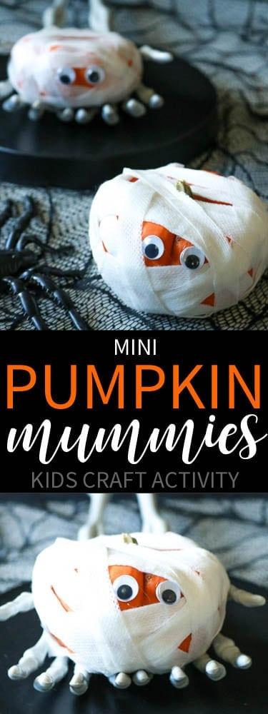 Mini Pumpkin Mummies Kid's Activity
