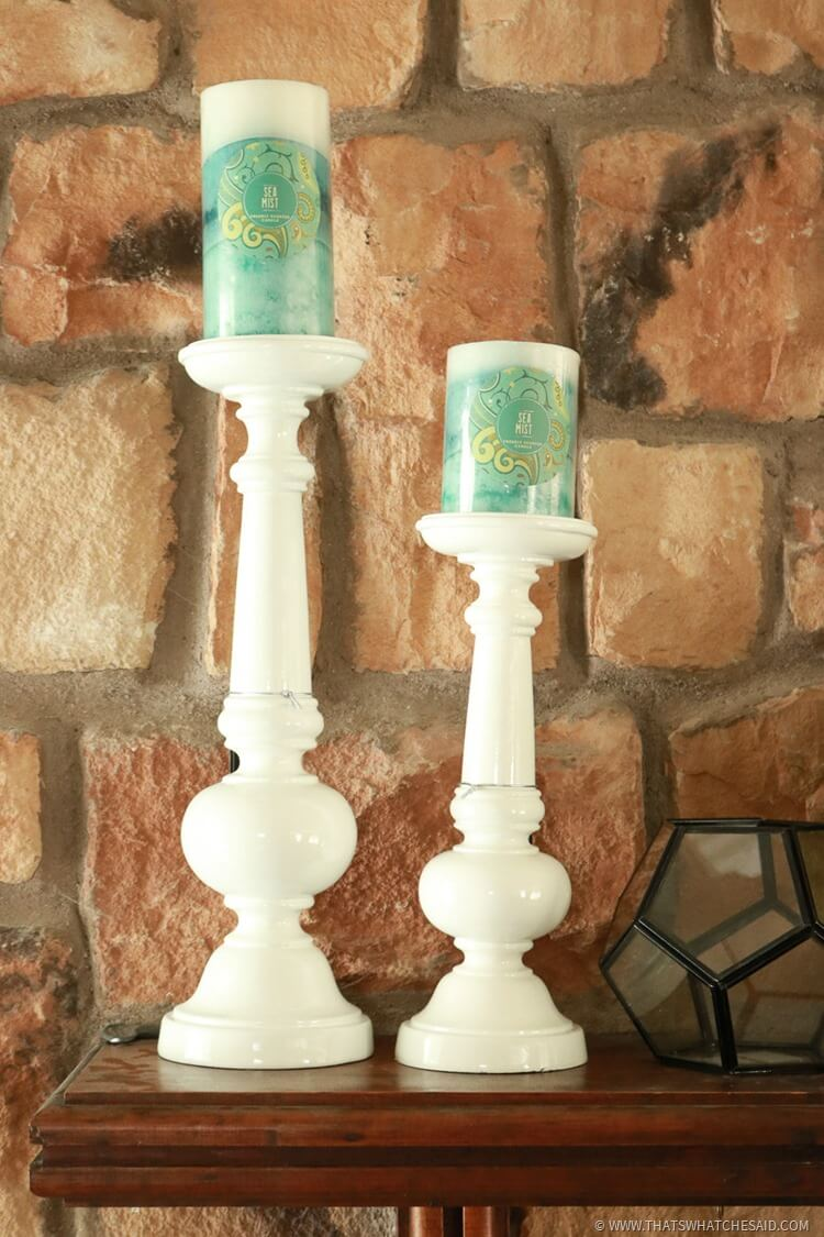 Vary heights of Mantel Accessories to create interest